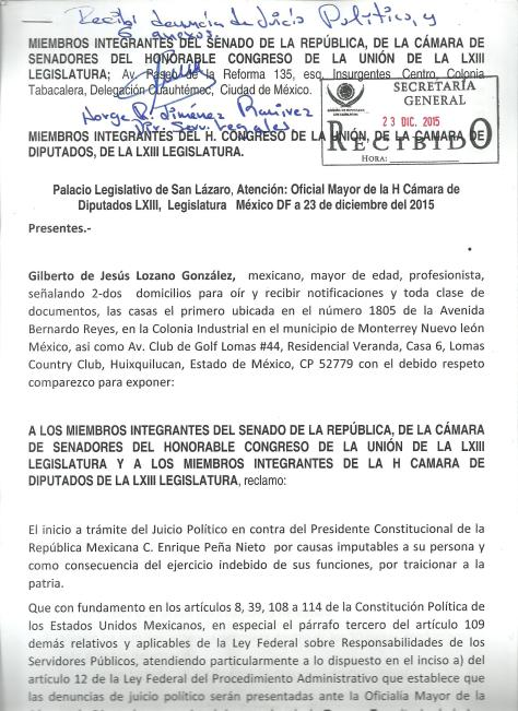 Solicitud de JUICIO POLITICO a EPN 002