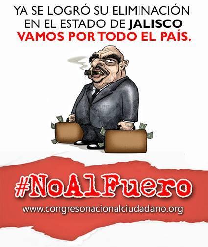 NO Fuero, NO pluris y NO $ para partidos políticos