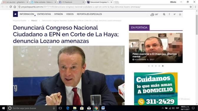 Acusarán a EPN ante La Haya; TU PUEDES AYUDAR…