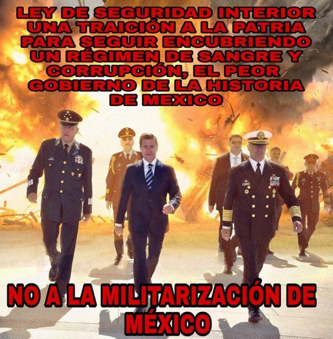 ¿ Que vamos hacer ante la militarización de México?